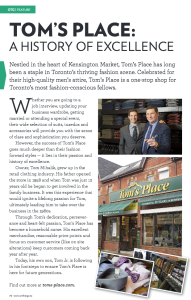 Toms Place A History of Excellence